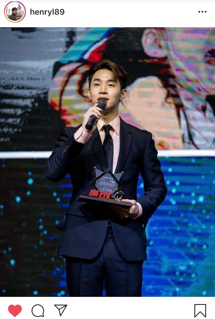 "Henry, ""I got a CF star Award! Love you all"""