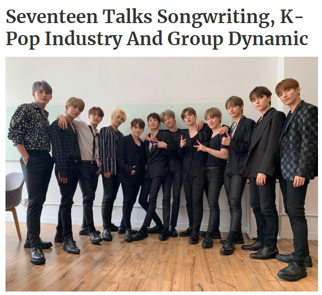 "SEVENTEEN, US Forbes' exclusive interview, ""We'll tell you our story in music."""