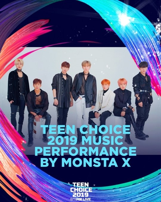 "Global star, MONSTA X is going to attend the ""2019 Teen Choice Awards"" in the U.S."