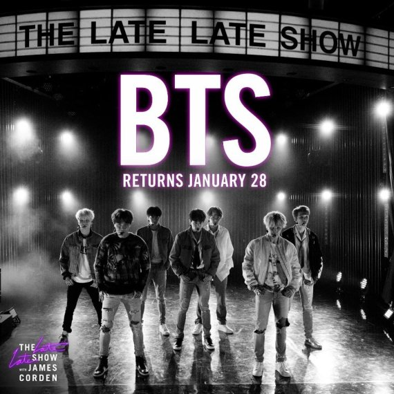 BTS performs 'Black Swan' on James Corden's late night show