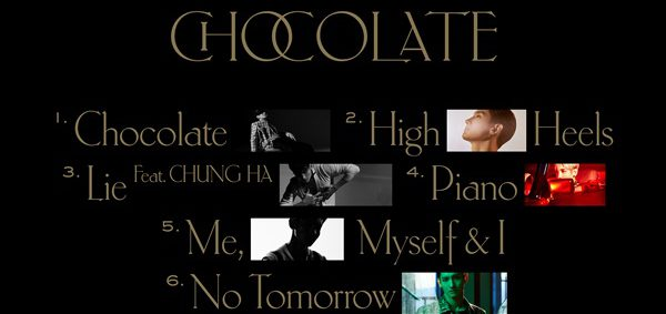 Changmin announce the tracklist for mini album 'Chocolate'