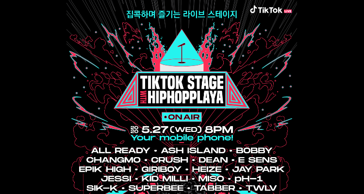 ZICO, Epik High, J Park, E-Sense confirmed lineup for TikTok Online Hip Hop Concert