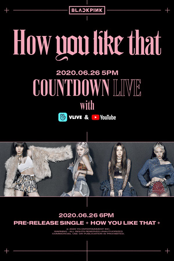 BLACKPINK's 'Countdown Live' on the 26th...Take a glimpse of new song and MV