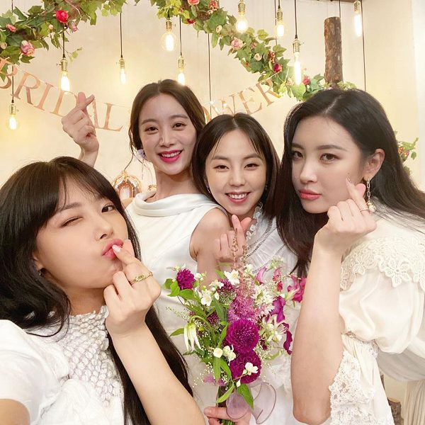 Yubin, Hyerim Bridal shower authentication shot...'Wonder Girls' showed off Friendship' (ft. Sunmi·Ahn Sohee)