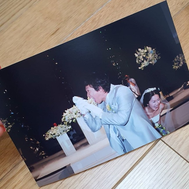 Kim Ji-hye& Park Jun-hyeong's wedding anniversary celebration,'cutting white radish' wedding memories