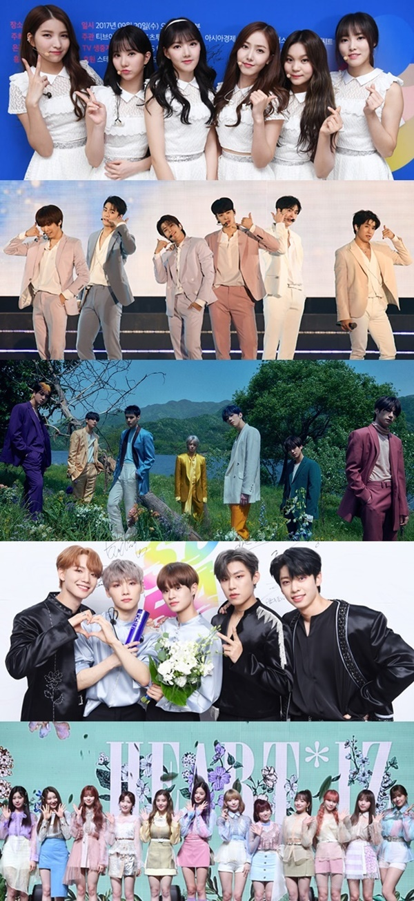 Girlfriend, Astro, Bigton, AB6IX, Aizu One join the '2020 Soribada Awards'