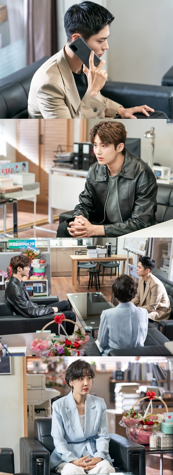 'Record of Youth' Park Bo-gum VS Byun Woo-seok's eye contact (ft. Embarassed Dong-mi Shin)