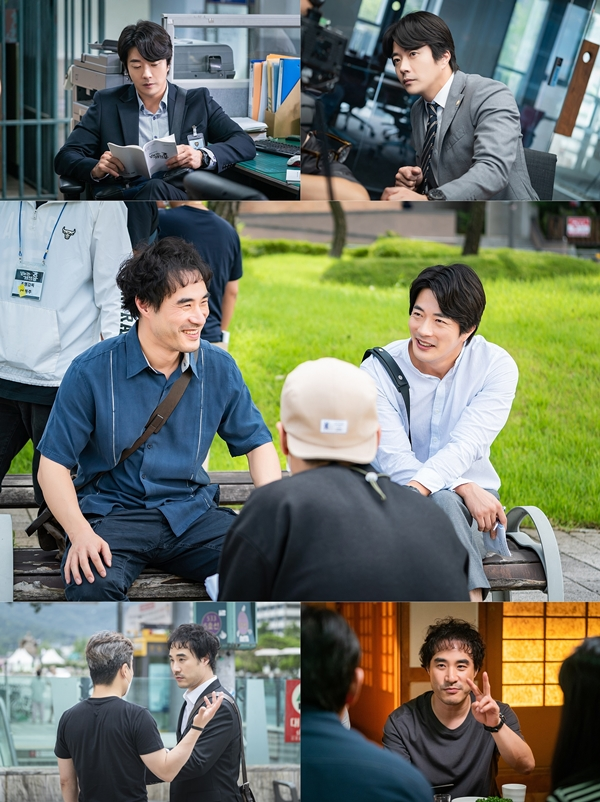 'Fly Dragon' Kwon Sang-woo x Bae Seong-woo, behind-the-scenes cut of 'fantasy chemistry' calling for a real shooter