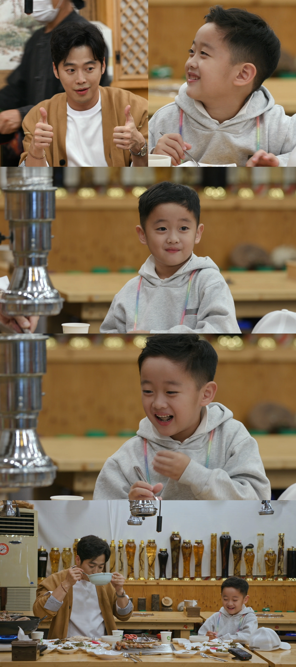 'Stars' Top Recipe at Fun-Staurant' Kim Jae-won's son, Yi-Joon, and his father's 'winning smile'