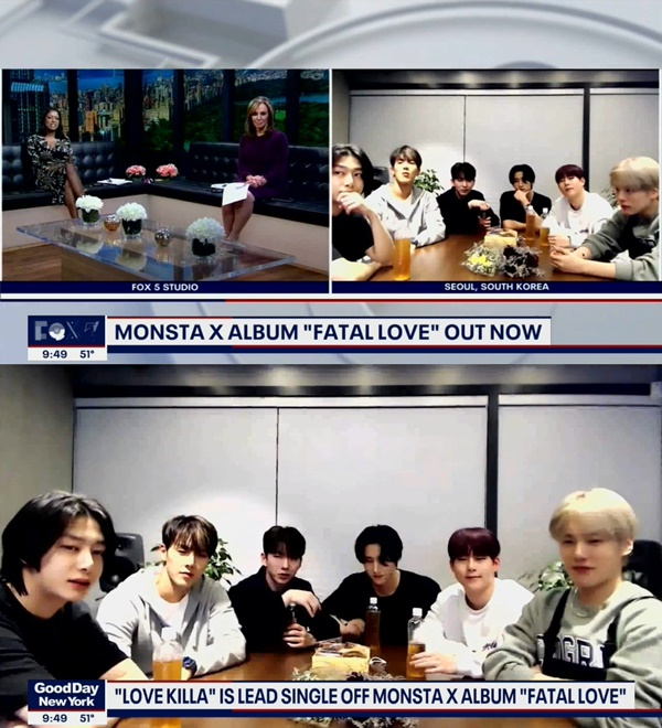 MONSTA X appeared on FOX5's 'Good Day New York
