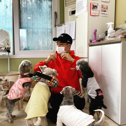 "Jeon Hyun-moo, volunteered at a shelter for stray dogs ""Sichu likes Hyun-moo"""