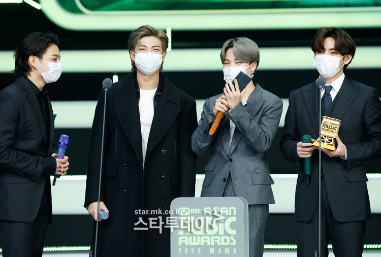 [Photo] 2020 MAMA, BTS wants to take off their masks