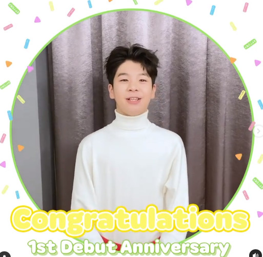 "Jeong Dong-won, debut 1st anniversary video letter ""Thank you for your love and support"""