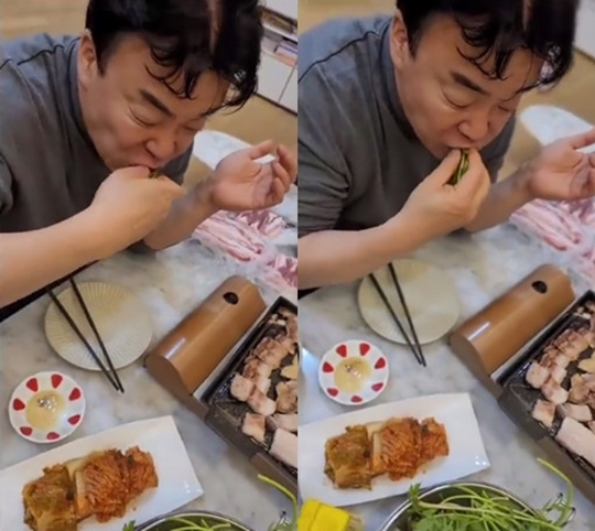 """I thought he prepared foods for me""... So Yoo-jin posted a photo of Baek Jong-won"