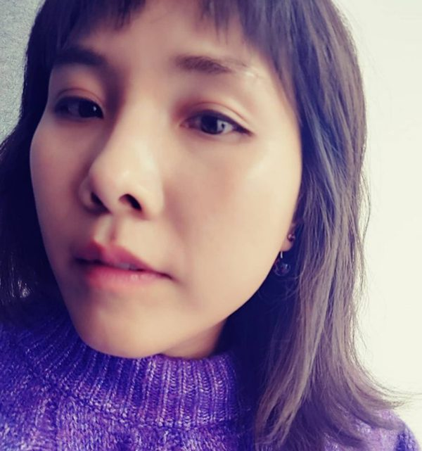 Shin Bong-seon showed off innocent beauty, wearing purple knit...'Like Han Ji-min'