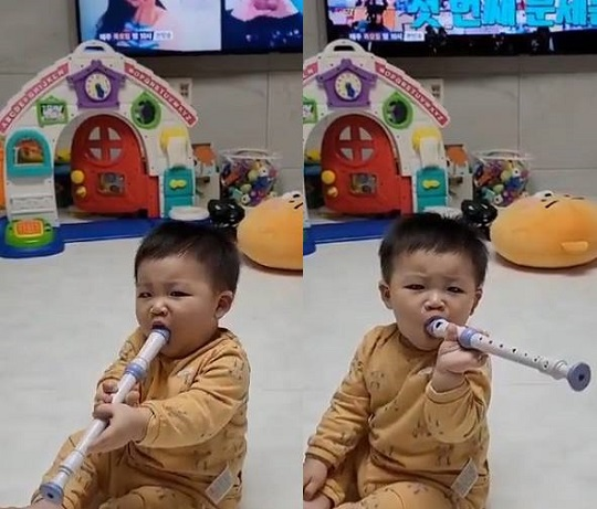 """Jang Seong-gyu's love of his child """"Oh, are you eating recorder?"""""""
