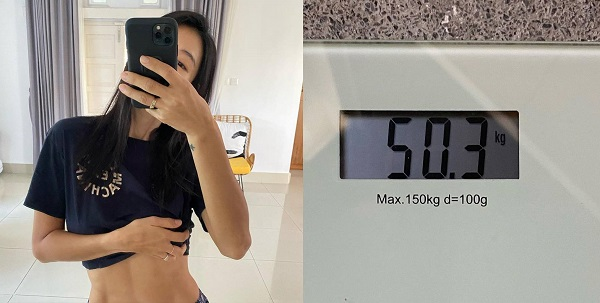 """Gahee shows off Wannabe abs and certified """"Weight 50.3kg"""""""