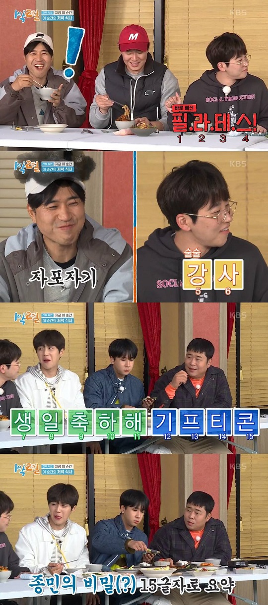 "'2 Days & 1 Night' DinDin revealed Kim Jong-min's potential romantic relationship... ""Pilates, instructor, happy birthday"""