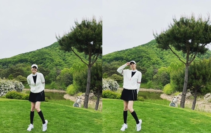 "Son Dam-bi, the goddess of the field... ""This is my first time to enjoy golf"""
